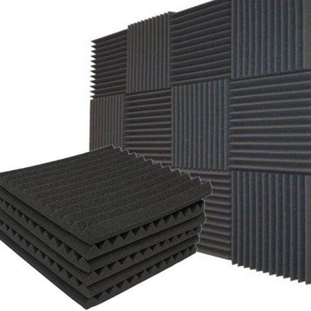 Moaere 12 Pack Acoustic Panels Studio Foam Wedges Soundproofing Tiles Wall Panels 1 X 12 X 12 Walmart Com Sound Proofing Foam Tiles Foam Panels