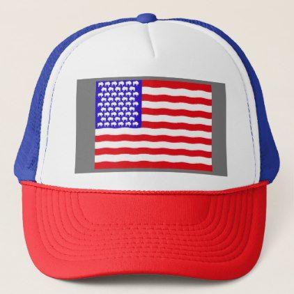 Buffalo Nation Flag Hat By Dr5j American Flag Hat American Flag Trucker Trucker Hat