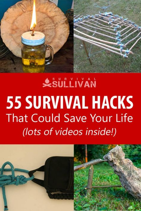 55 Survival Hacks That Could Save Your Life [VIDEO]