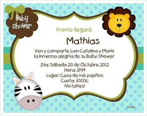8 Hermosos Modelos De Tarjetas Para Baby Shower Baby