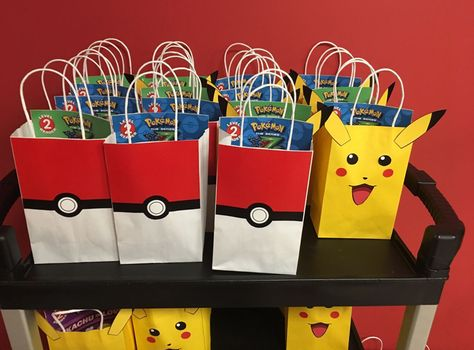 DIY Pokemon Birthday Party Favor Bags Printable Template To Decorate Your Own Goodie