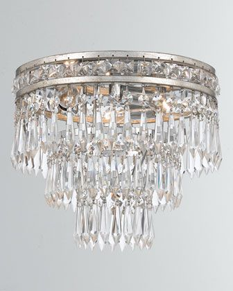 Mercer 3 Light Clear Crystal Flush Mount With Images Crystals