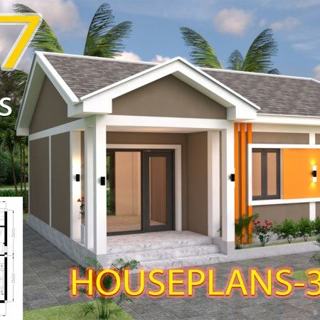 Small Home Design Plan 5 4x10m With 3 Bedroom Samphoas Plan House Design Small House Design Home Design Plans