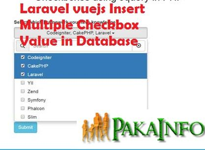 Laravel vuejs Insert Multiple Checkbox Value in Database