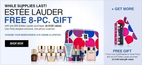 Estée Lauder 8pc gift @ Macys in March 2015. http://cliniquebonus ...