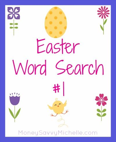 Easter Word Search #1 #Easter #printable