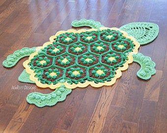 Crochet Pattern Jimmy The Hybrid Car Rug Pdf Crochet Pattern Etsy Crochet Patterns Crochet Rug Patterns Crochet Turtle