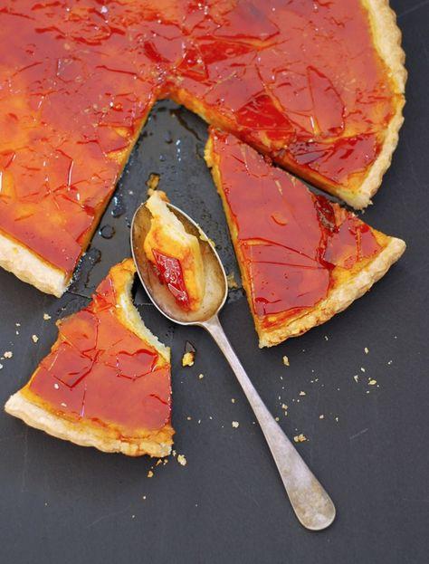 Pumpkin Custard Tart with a Caramel Crunch
