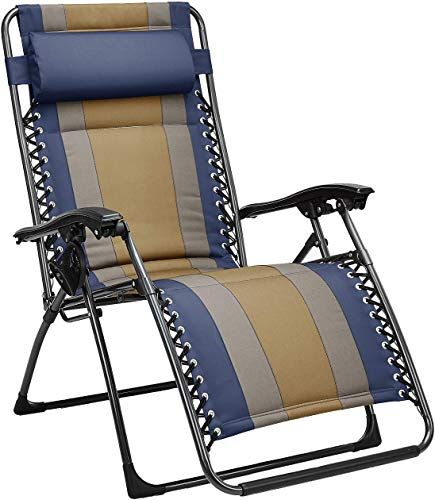Red Mecor 3PC Zero Gravity Lounge Chairs Beach Chairs Patio Chairs Adjustable Folding Recliner with Folding Table Outdoor Yard Beach