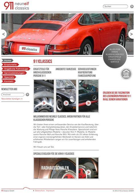911classics Köln - Alles für den klassischen Porsche 911 - Webdesign