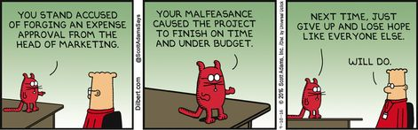 Accused Of Forgery - Dilbert by Scott Adams