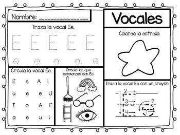 Aprender Las Vocales Fichas Para Colorear Con Imagenes Vocal
