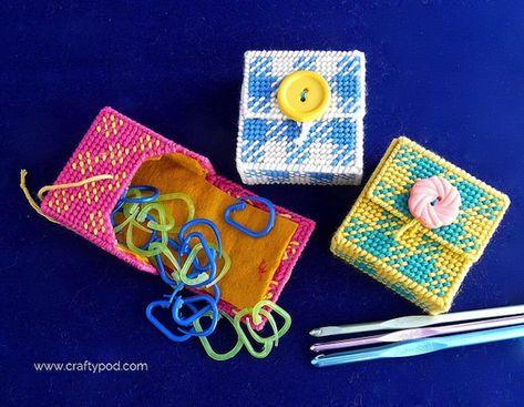 How-To: Plastic Canvas Stitch Marker Case #plasticcanvas #knitting #crochet