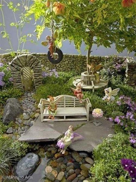 Fabulous Fairy Garden Ideas For Easy And Cheap Your Backyard Design Fairy Garden Fairy Garden Diy Miniature Fairy Gardens