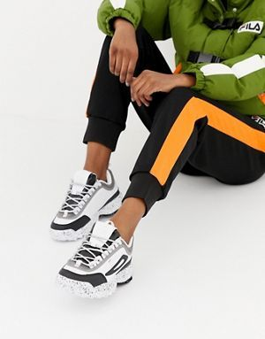 Fila X Liam Hodges White And Black Disruptor Ml3 Trainers
