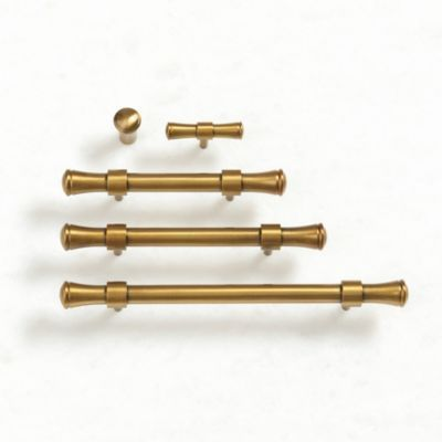 With Its Clean Simple Lines And Smooth Rounded Profile Our Paulette Cabinet Hardware Has A Slee Cabinet Hardware Brass Cabinet Hardware Brass Kitchen Hardware