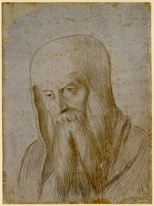 Portrait Of An Unknown Old Man One Of Eleven Drawings Of Heads Head And Shoulders Slightly To L Looking Down With Long Beard Drawings Long Beards Portrait