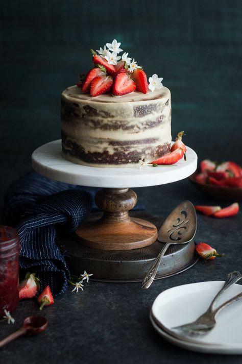 Strawberry Vanilla Almond Cream Layer Cake Recipe Desserts
