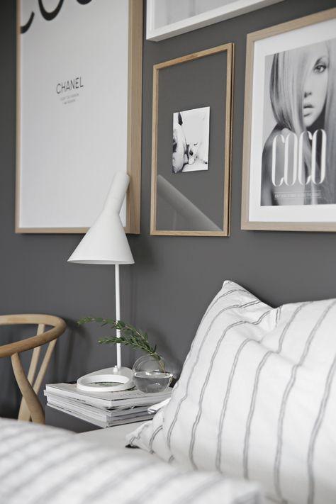Wall gallery in bedroom