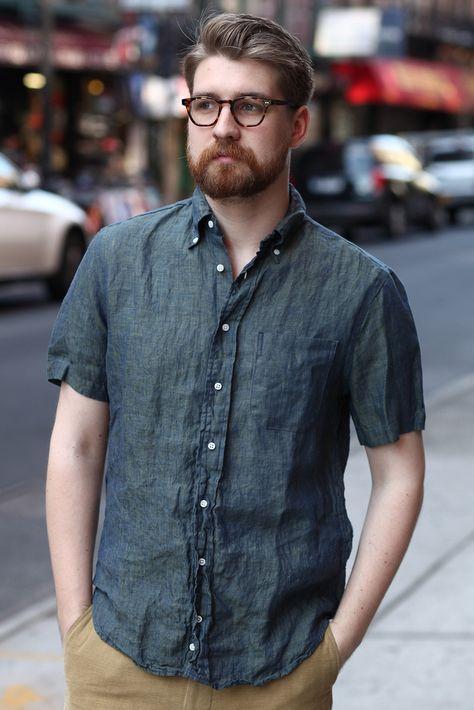 Gitman Vintage - Iridescent Linen Short Sleeve Shirt