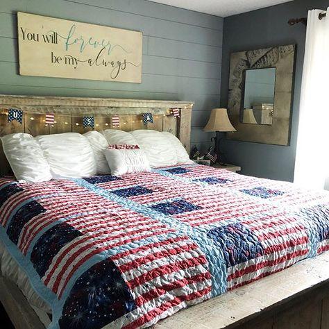 Patriotic Bedroom Decor