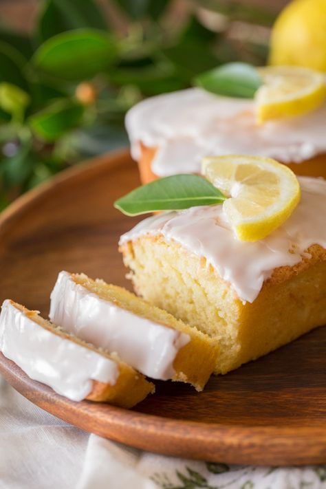 These little loaves are sweet and moist with just the right amount of lemon flavor. Made healthier with coconut oil and Greek yogurt! #poundcake #lemon #breakfast