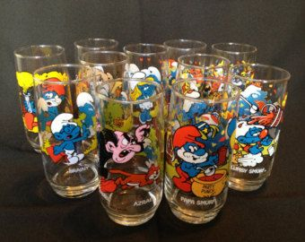 Smurf glasses from McDonalds remember these? 1980s Childhood, My Childhood Memories, Best Memories, Cartoon Glasses, Retro, 80s Kids, 90s Kids Toys, School Memories, Oldies But Goodies