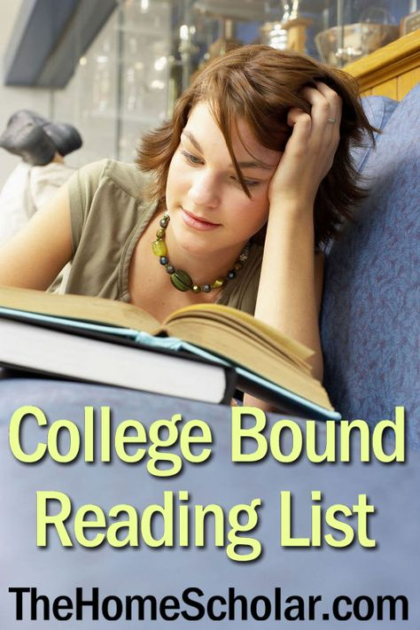 High School Reading List for College-bound Students | The HomeScholar