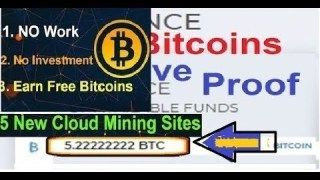 New Free Bitcoin CLOUD MINING Site 2019 | LIVE PAYMENT PROOF | Earn