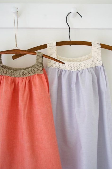 Sweet Crochet and Sew Dress | The Purl Bee