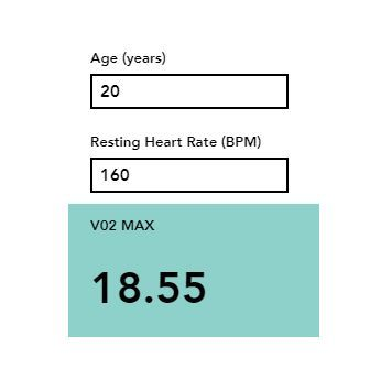 This Calculator Provides An Estimated Measure Of Your V02 Max Your V02 Max Is The Volume Of Oxygen Your Body Uses Aerobics Fitness Calculator Aerobics Workout