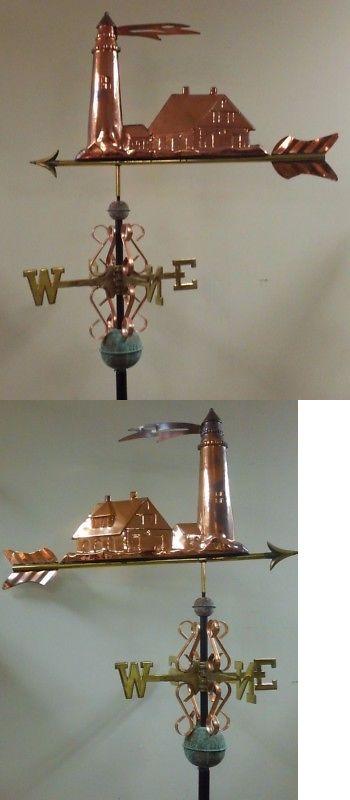 Lighthouse 3d Majestic Copper Weathervane As Shown No Roof Mount Ebay Weathervanes Lightning Rod Wind Vane