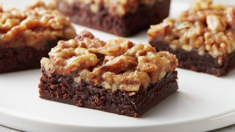 Fudgy Pecan Pie Brownie Bars Recipe In 2020 With Images