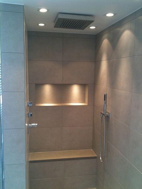 gemauerte dusche ohne tr google suche bad pinterest bath interiors and attic - Led Spots In Der Dusche