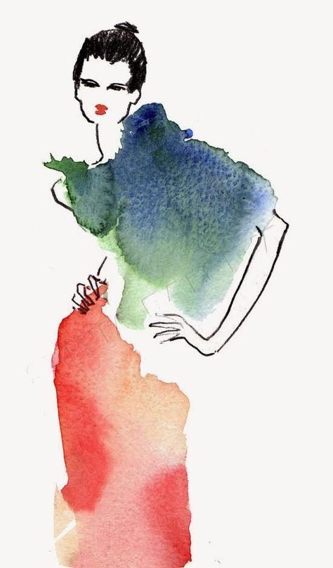 Illustration De Mode Fashion Illustration Peinture De Mode