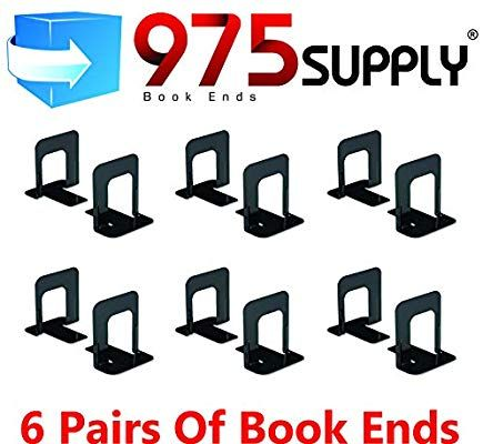 Amazon Com Book Ends 975 Brand Standard 4 9 10 X 5 7 10 X 5 3 10 Inches Heavy Gauge Steel Black 1 Pair Gateway She Shed School Supplies