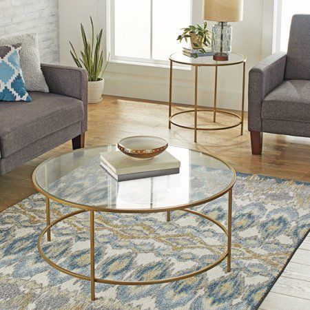 Home Modern Glass Coffee Table Coffee Table Living Room Table Gold
