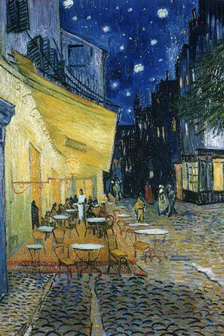 Cafe Terrace At Night Vincent Van Gogh Iphone Wallpaper Download Famous Art Paintings Van Gogh Paintings Van Gogh Art Iphone wallpaper van gogh