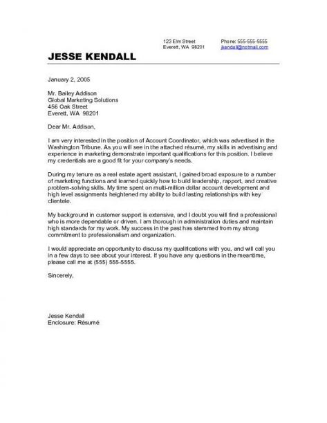 Cover Letter Template Career Change | Cover letter template ...