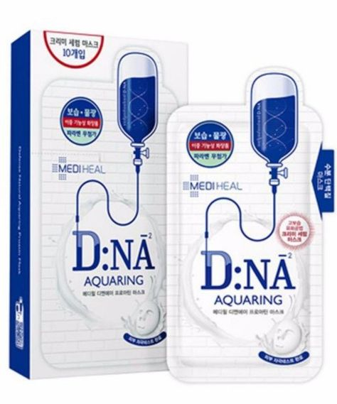 This Mediheal Defence Natural Aquaring System With Dna Mask Is Made Of Bamboo Cellulose And Feels Extremely Sof Hydrating Face Mask Sheet Mask Face Sheet Mask