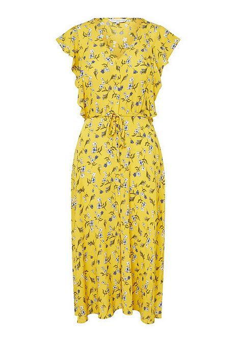 F&F Floral Button Through Tea Dress