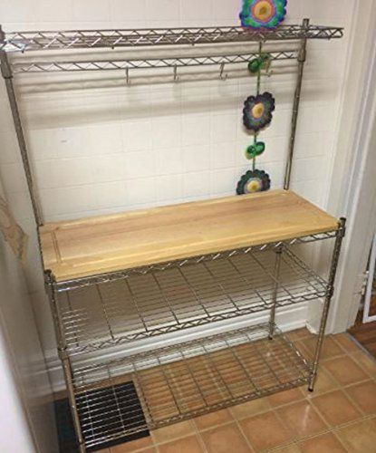 Ats Industrial Bakers Rack Kitchen Metal Organizer Shelf Storage