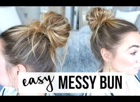 Easy Messy Bun Tutorial Fine Thin Hair Youtube In 2020 Bun Hairstyles For Long Hair Hair Bun Tutorial Messy Bun Thin Hair