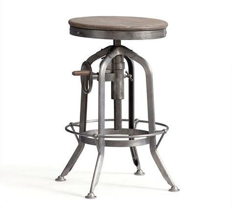 Astounding Pottery Barn Pittsburgh Adjustable Height Bar Stool In 2019 Uwap Interior Chair Design Uwaporg