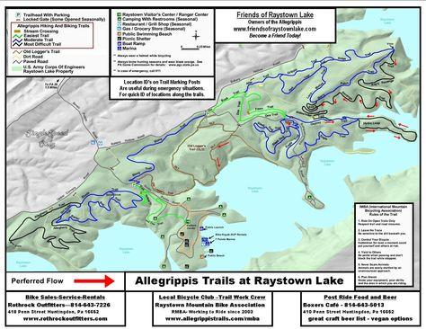 MAP - Allegrippis Trails   do/go/see/revisit   Trail, Lake ...