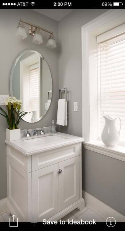 43 Ideas Home Bathroom Colors Half Baths Bathroom Home Powder Room Ideas Half Baths Powder Room Vanity Small Bathroom