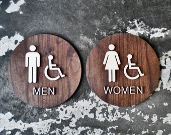 High Quality Wooden Restroom People Wc Signage 8 Male