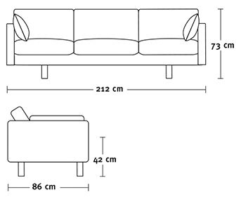 Couch Sizes sofa chair measurements - google search | architecture