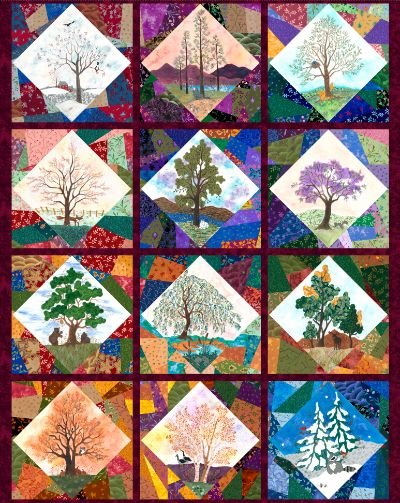 Quilting Treasures Wanderlust Postcards Quilt Fabric Style 26722-B Blue Multi