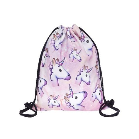 Generic Fashion bunter Happy Cute 3D Gedruckt Kordelzug Rucksack Bag (38,1x 27,9cm), unicorn (Mehrfarbig) - Generic